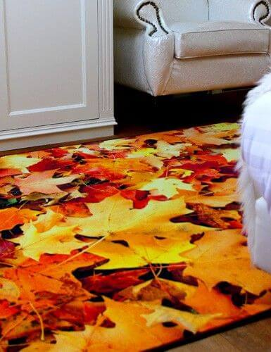 Geprinte vloerkleden herfst