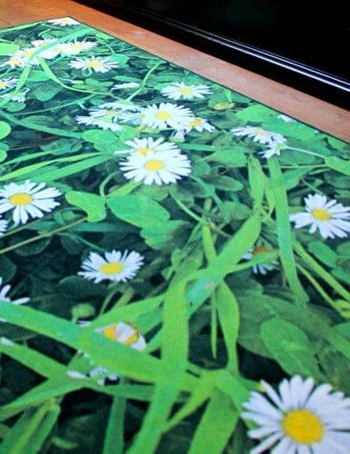 Geprinte vloerkleden bloemen