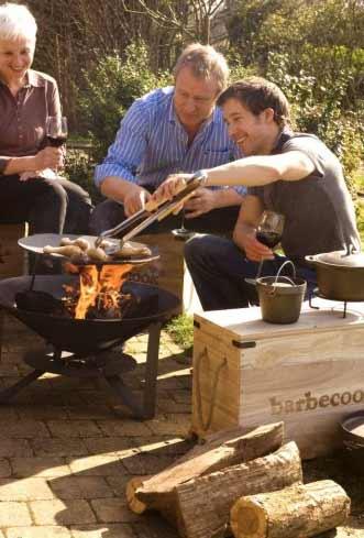 vuurschaal all season buiten koken