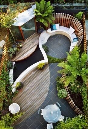 Mooie indeling kleine tuin