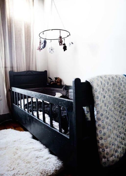 Zwart witte babykamer inspiratie