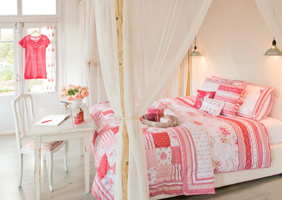 Klassiek romantisch interieur - Romantische slaapkamer ...