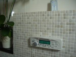 Ingebouwde badkamerradio