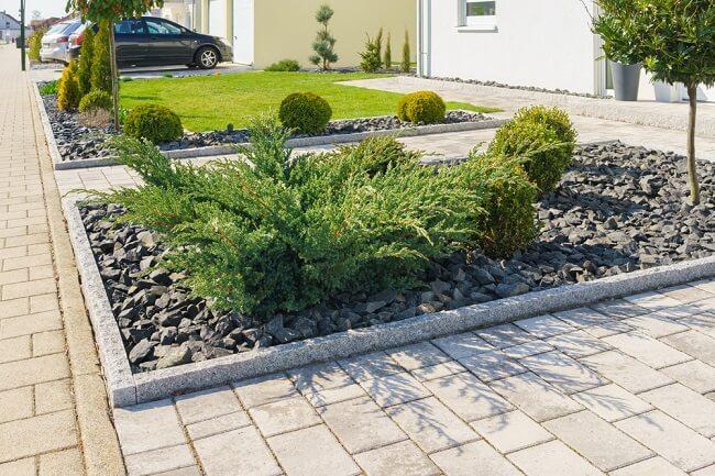 Blok in tuin