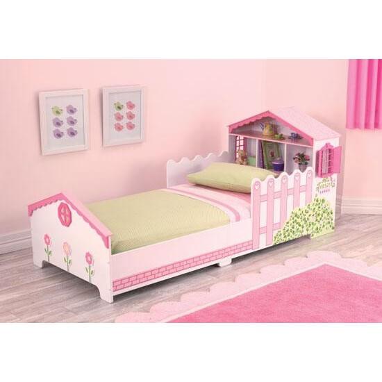 Kinderbed met poppenhuis