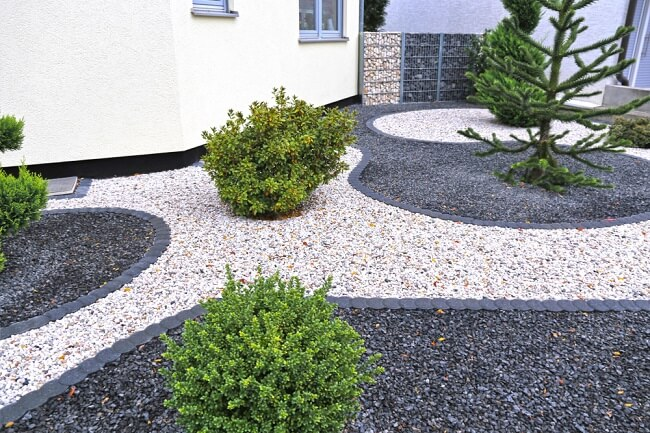 Moderne grint tuin