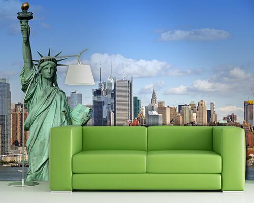 fotobehang steden voor in de woonkamer