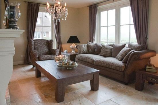 Landelijke woonkamer - Interieur decoratie modern hout ...