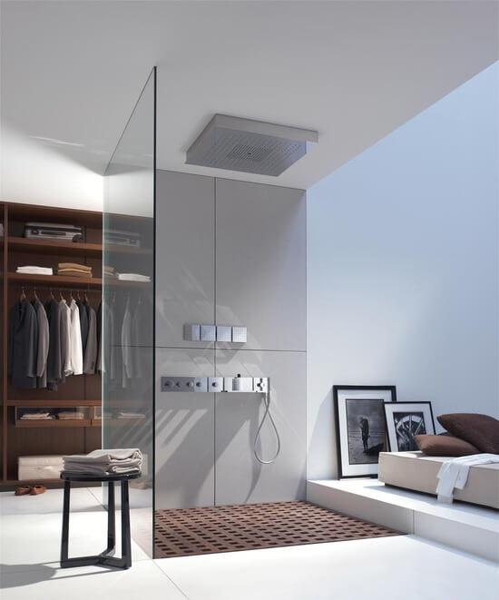 luxe slaapkamer met inloopdouche