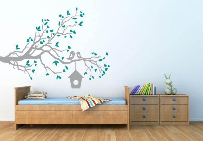 Muurstickers voor in je slaapkamer idee n en inspiratie ikwoonfijn - Decoratie kamer slapen schilderij ...