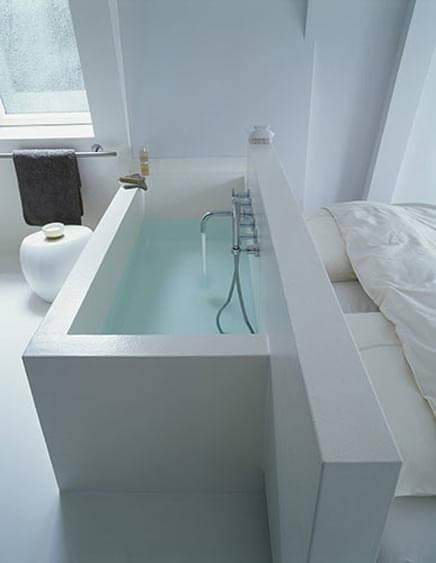 witte badkamer + slaapkamer