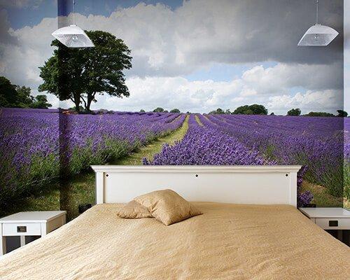 fotobehang slaapkamer natuur