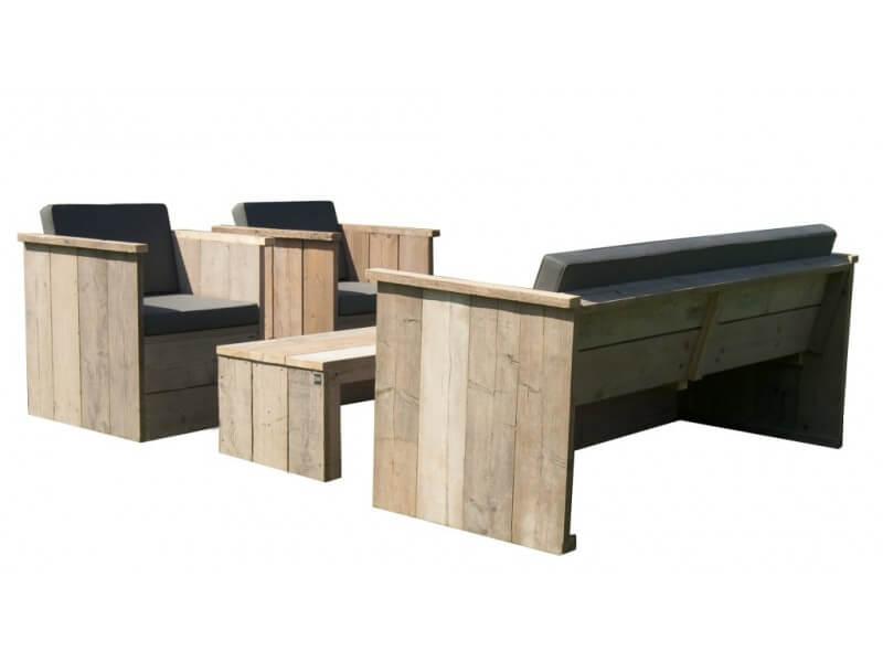 Heerlijk buiten ontspannen met je loungeset - Eigentijdse houten lounge ...