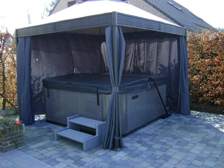 Jacuzzi in de tuin ik woon fijn - Tent voor terras ...