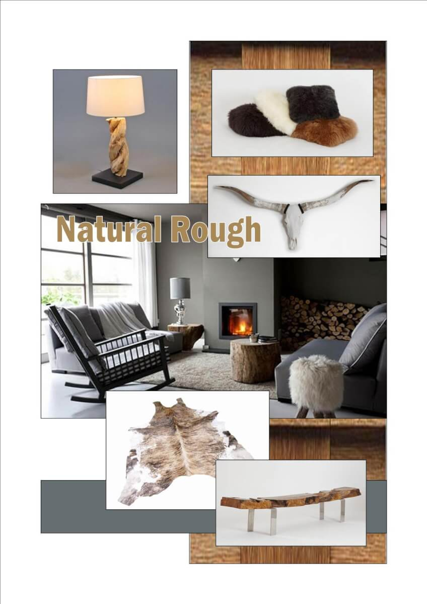 Moodboard natural rough
