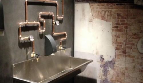 Betonlook Keuken Muur : Betonlook muur in badkamer