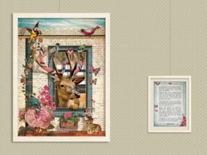 Poster Hert met Gedicht