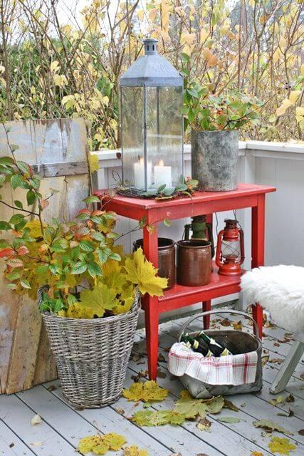 Balkon herfst