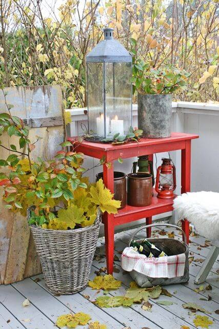 Balkon ook leuk in de herfst ik woon fijn for Fall balcony decorating ideas