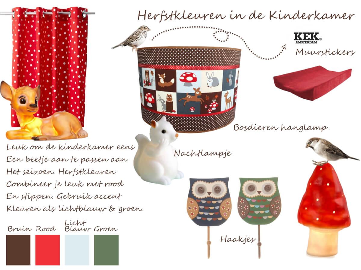 Babykamer Ideeen Rood : Kleuren voor in de Herfst Kinderkamer