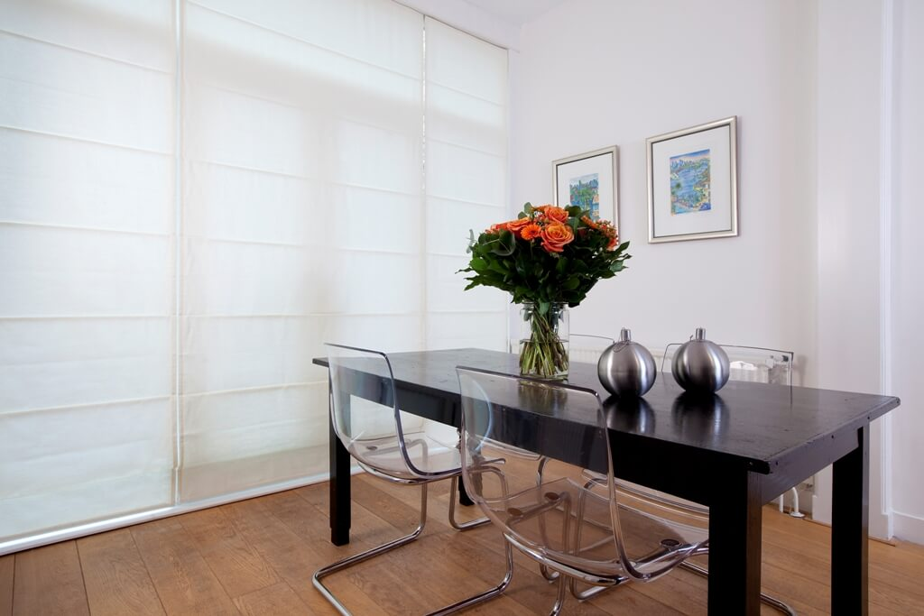 Inspiratie voor raamdecoratie in woonkamer keuken - Eetkamer en woonkamer ...