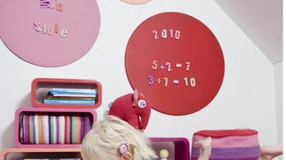 Sebra magneetborden rose magneetcijfers magneet letters