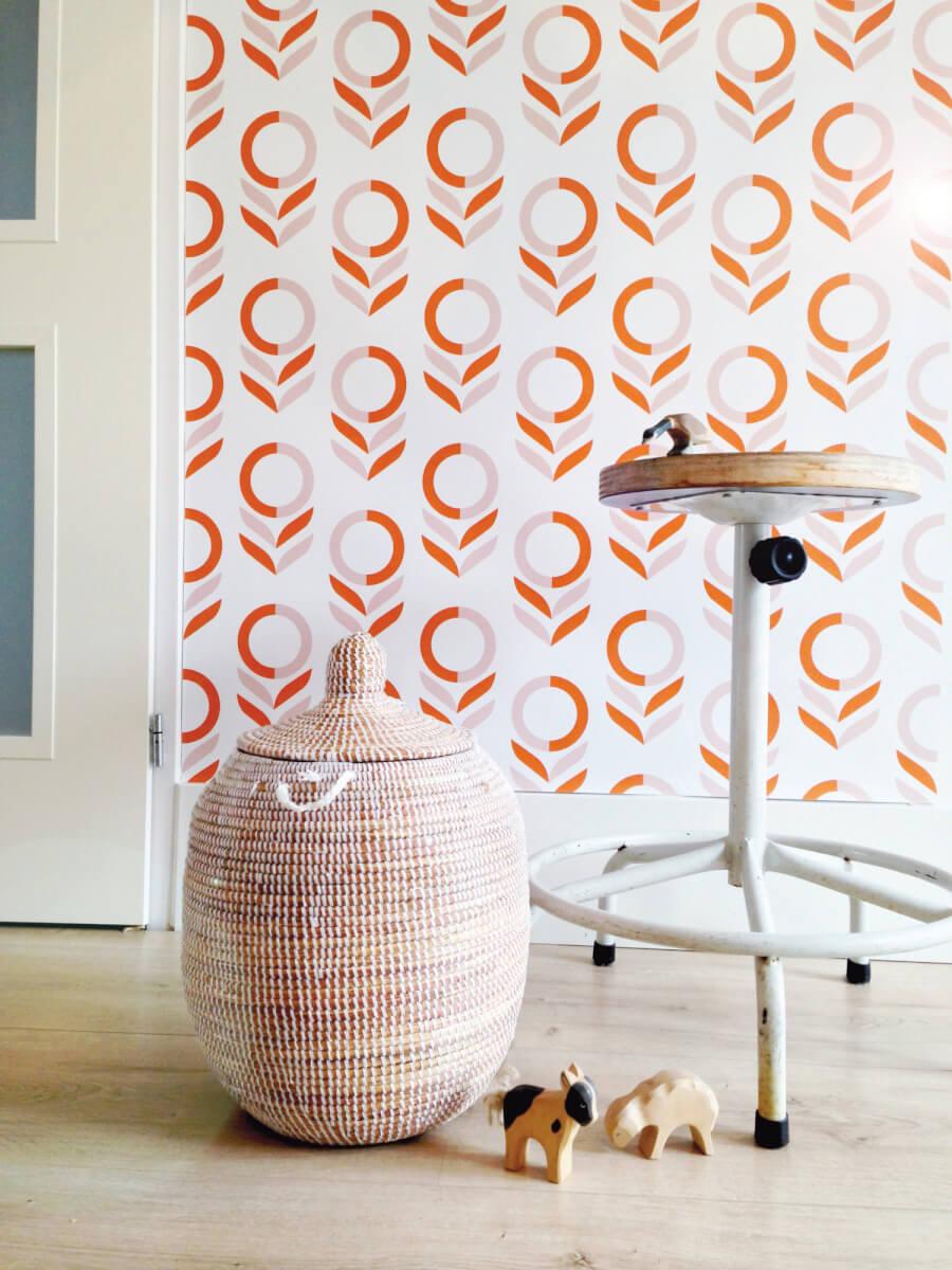 Oranje-abstracte-bloem