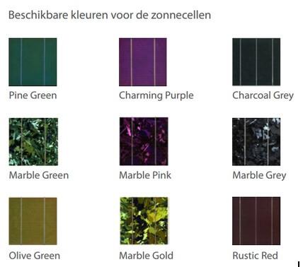 Zonnepanelen kleuren