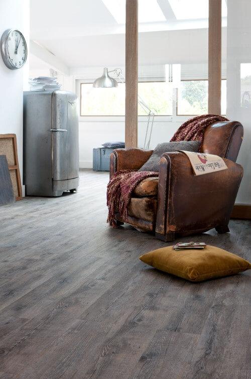 Woonkamer PVC vloer