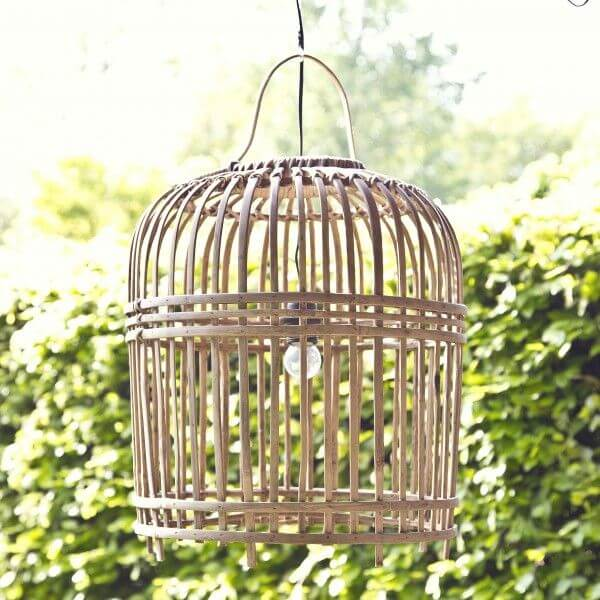 Hippe rieten hanglamp 'Bamboe'