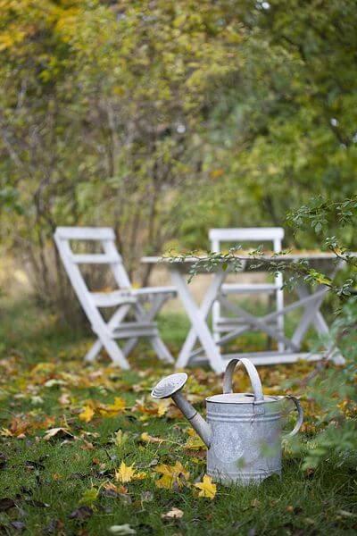 Herfst tuinmeubelen