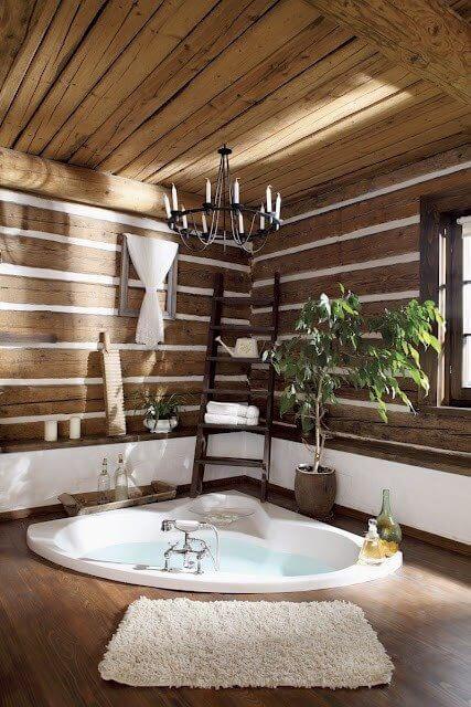 Witte Landelijke Badkamer ~ Dromen van  een jacuzzi in de badkamer!  Ik woon fijn