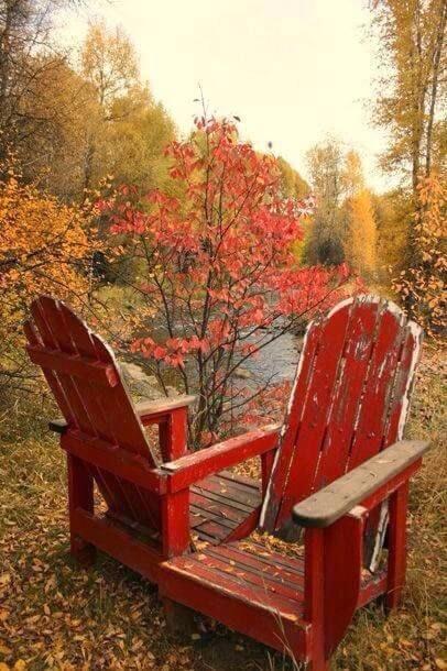 Tuinmeubelen herfst