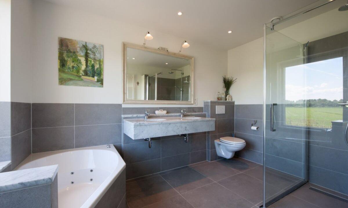 Stucwerk in badkamer