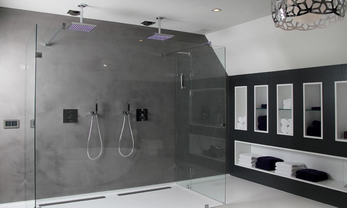 Tadelakt badkamer 2 ik woon fijn - Deco kleine badkamer met bad ...