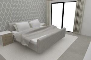 3D visual slaapkamer element ontwerp & uitvoering