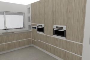3d visual keuken. Interieurontwerp, keuken ontwerp
