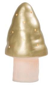 paddenstoel lamp goud