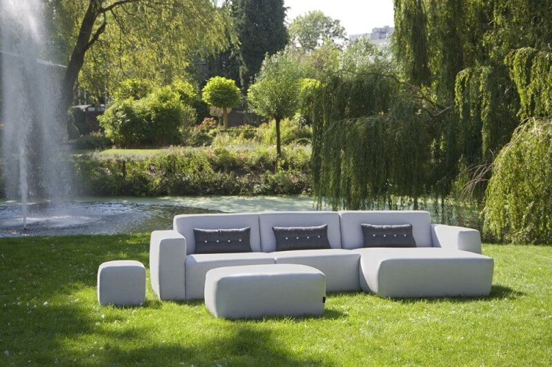 UrbanSofa Outdoor bank Provence grijs