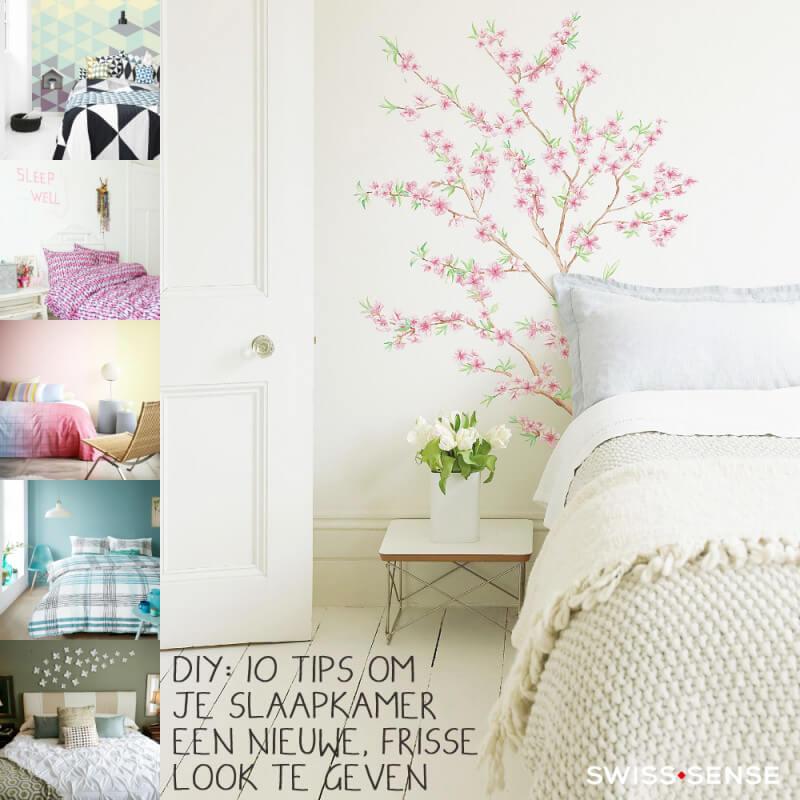 Slaapkamermuur een bijzonder look geven