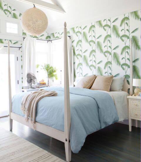 Slaapkamers en interieurs met tropisch behang