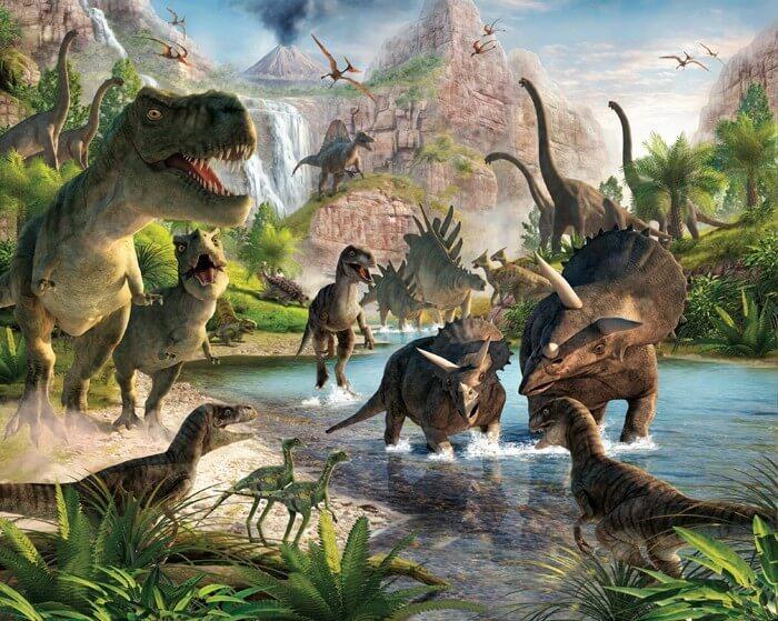 Fotobehang dinosauriers