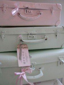 koffer verven en stapelen