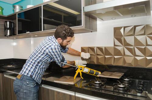 Keuken achterwand in 3d
