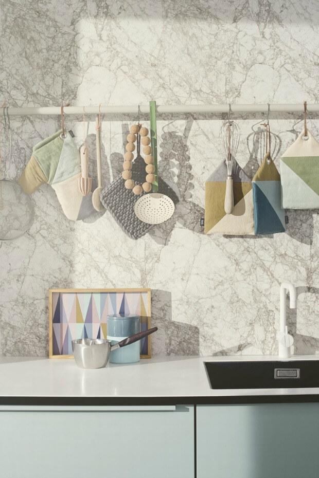 Keuken Achterwand marmer