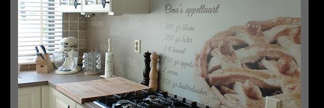Keuken achterwand tekst