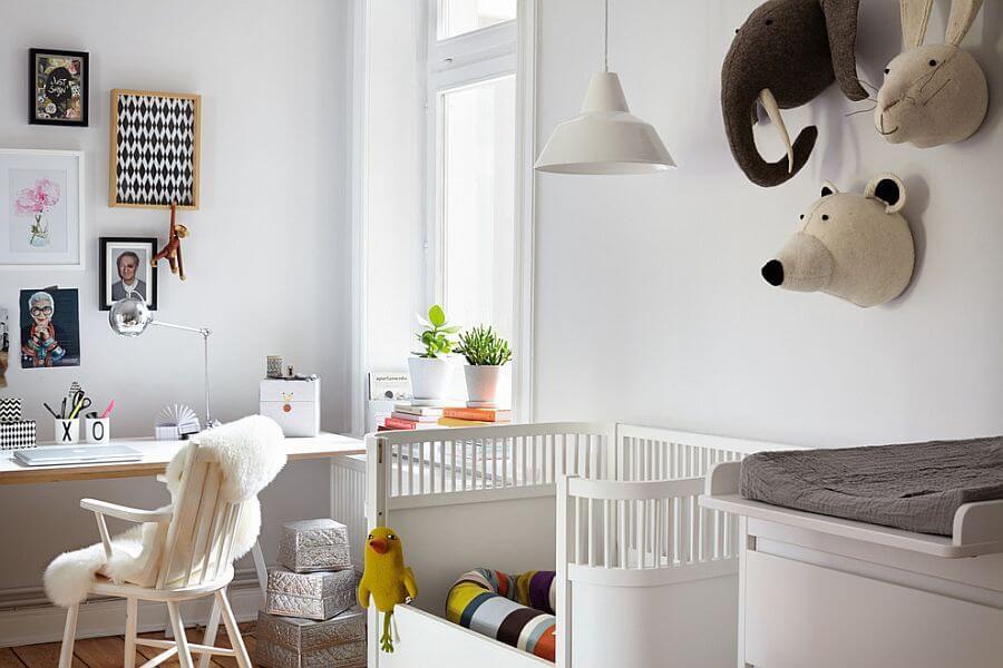 Scandinavische thuiswerkkamer