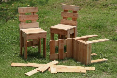 Tuinstoeltjes voor kinderen van pallethout