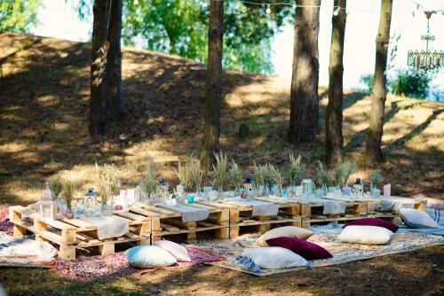 Bohemien tafel van pallets