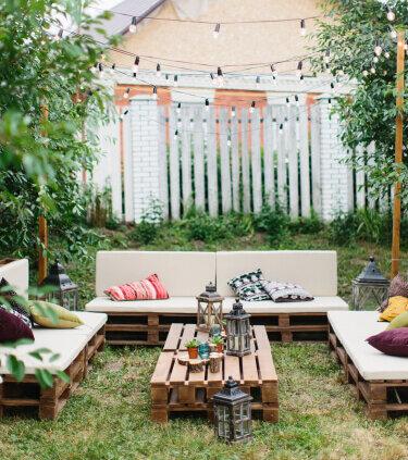 Compleet pallethouten loungeset